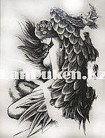 Временное тату Tattoo девушка с крыльями 215x155mm HB-802
