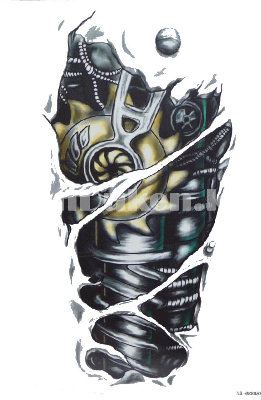 Временное тату Tattoo механическое плечо 215x155mm HB-088