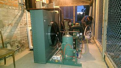 Сборка и установка агрегатов шоковой заморозки