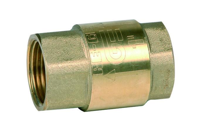Клапан обратный муфтовый DN15 PN16 Genebre Испания