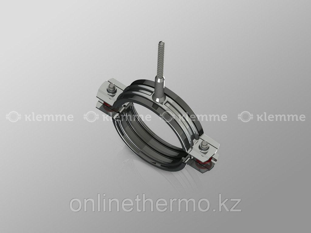 "Хомут 1/2"" (М8) для труб с резиновым профилем и шурупом 20-24 мм - фото 1"