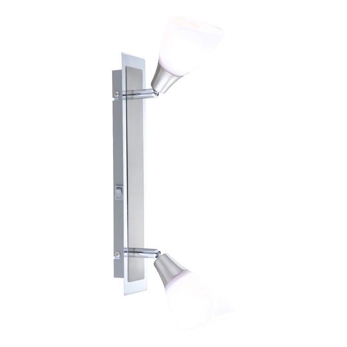 Спот FRANK 2x40Вт E14 матовый никель 35x6,5x18см