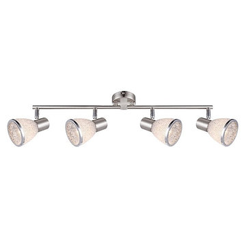 Спот RACHEL 4x4Вт E14 LED матовый никель 61x14,5см