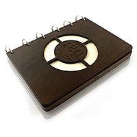 Блокнот из дерева с индукционной зарядкой DS078/1 дерево