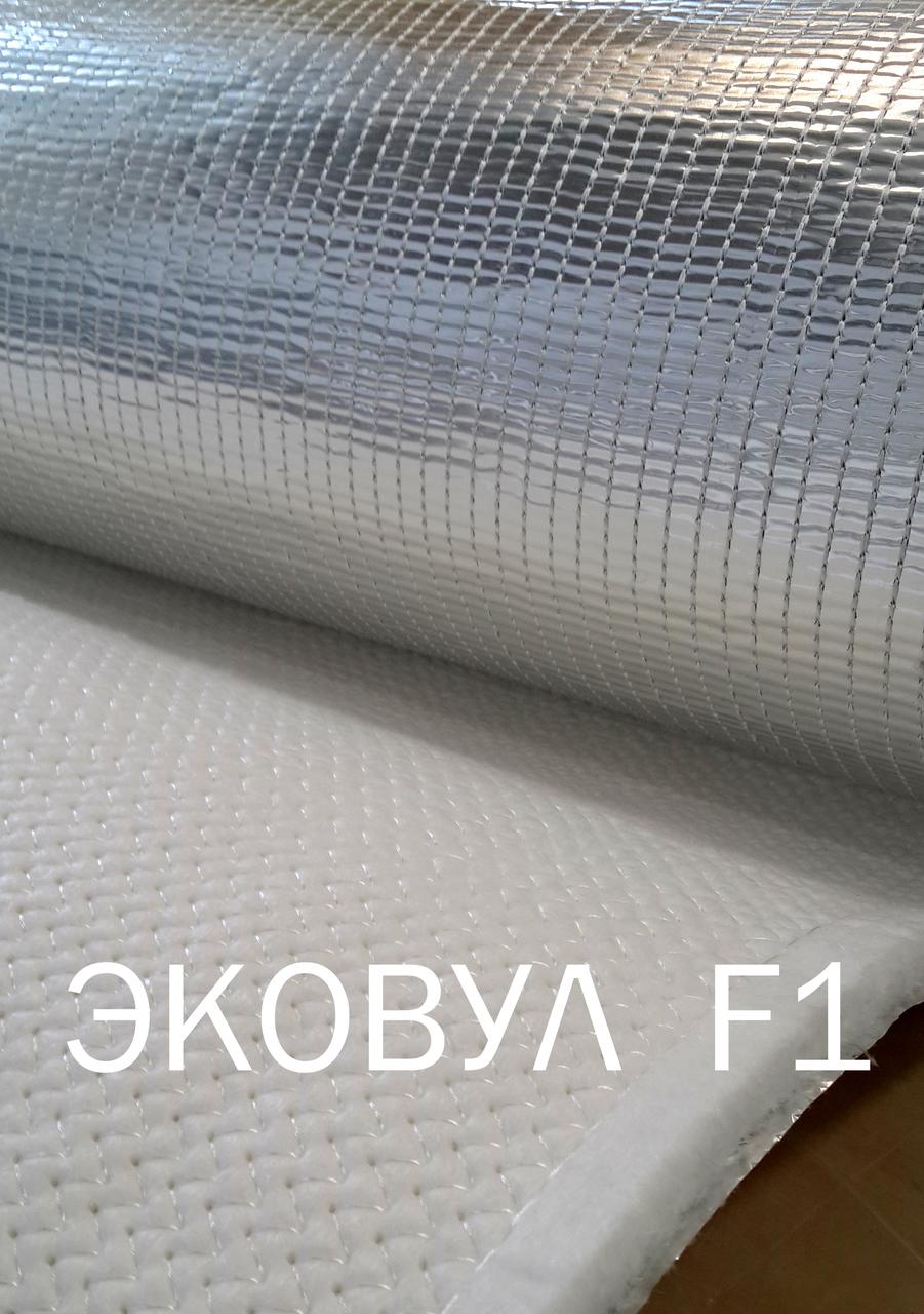 Кремнезёмный огнеупорный Мат Ekowool F1 - материал, облицованный с одной стороны фольгой.