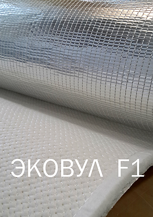 Кремнезёмный огнеупорный Мат Ekowool F1 - материал, облицованный с одной стороны фольгой., фото 2