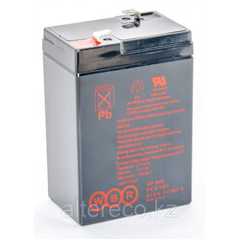 Аккумулятор WBR GP 645 (6В, 4,5Ач)