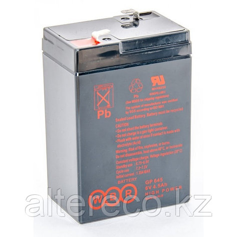 Аккумулятор WBR GP 645 (6В, 4,5Ач), фото 2