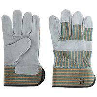 Перчатки спилковые комбинированные 'Трал Люкс'