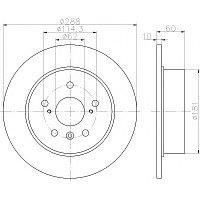 Тормозные диски Lexus RX300 (98-03, задние, BluePrint, D288)