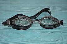 Очки для плавания с берушами в чехле Advanced swimming goggles, черные