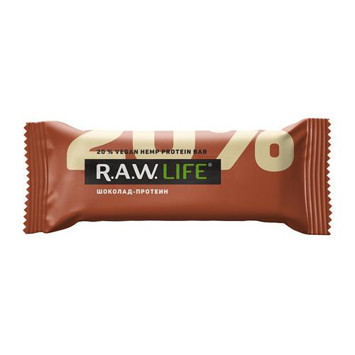 "Батончик орехово-фруктовый ""Шоколад-протеин"" Raw Life"