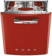 Стиль 50-х гг. Встраиваемая посудомоечная машина, красная 60 см Smeg ST2FABR2