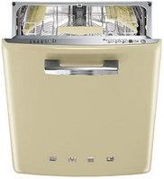 Стиль 50-х гг. Встраиваемая посудомоечная машина, кремовая 60 см Smeg ST2FABP2