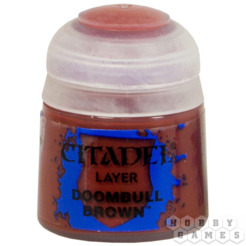 АКСЕССУАРЫ ВАРХАММЕР: Баночка с краской: Бурый Бык Рока (Paint Pot: Doombull Brown)