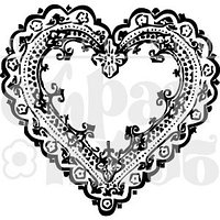 Штамп Кружевное сердце