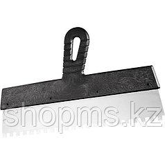 Шпатель из нержавеющей стали, 200 мм, зуб 4х4 мм, пластмассовая ручка // СИБТЕХ