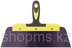 """Шпатель фасадный """"Мастер"""", пружинная колоризованная сталь, двухкомпонентная ручка, плоский 300 мм"""