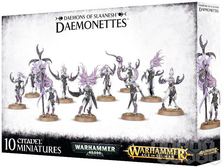МИНИАТЮРЫ ВАРХАММЕР 40000: Daemons of Slaanesh Deamonettes