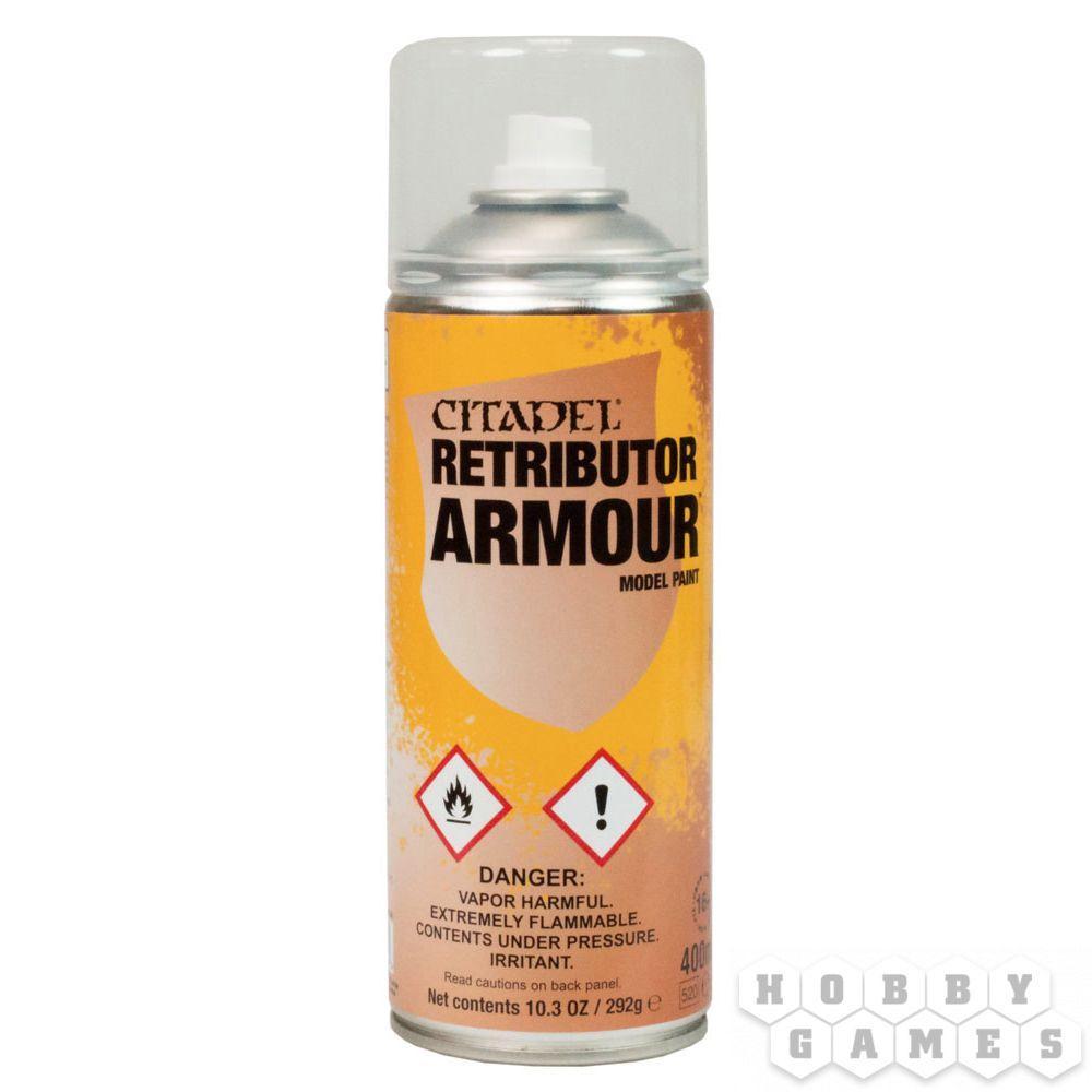 АКСЕССУАРЫ ВАРХАММЕР: Спрей-грунтовка Броня Воздаятеля (Retributor Armor Spray)