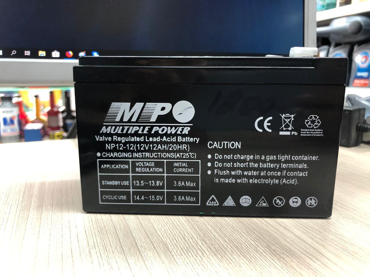 Аккумулятор MULTIPLE POWER  NP12-12 (12Ah 12V) для ИБП UPS