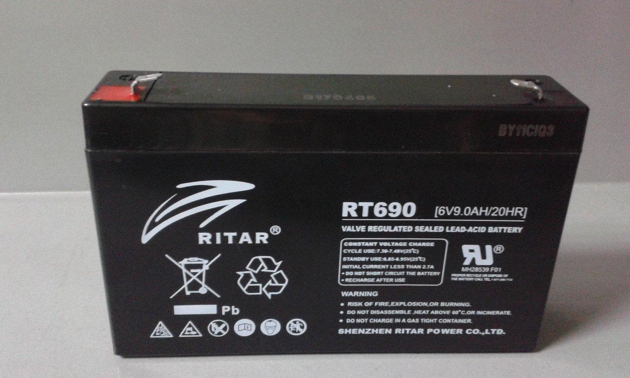 Аккумулятор Ritar RT690 (9Ah 6V)