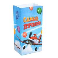 Пакет подарочный без ручек 'Самый лучший!', Самолеты,10 х19.5 х7 см (комплект из 10 шт.)