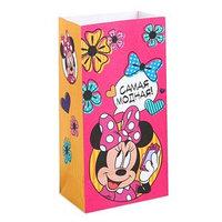 Пакет подарочный без ручек 'Самая модная!', Минни Маус,10 х19.5 х7 см (комплект из 10 шт.)