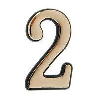 Цифра дверная '2', пластиковая, цвет золото (комплект из 150 шт.)