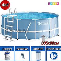 Круглый каркасный бассейн Intex 26706, Prism Frame, размер 305x99 см, фото 1