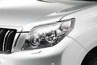 Защита фар/очки на Toyota Land Cruiser Prado 150/Ленд Крузер Тойота Прадо 150 2009-2013 прозрачная