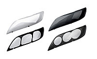 Защита фар/очки на Toyota Land Cruiser Prado 120/Ленд Крузер Тойота Прадо 120 2003-2008 карбон, фото 1