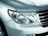 Защита фар/очки на Toyota Land Cruiser 200/Тойота Ланд Крузер 200 2009-2012 прозрачная, фото 1