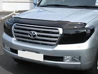 Защита фар/очки на Toyota Land Cruiser 200/Тойота Ланд Крузер 200 рестайлинг 2012- темная, фото 1