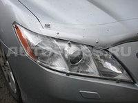 Защита фар /очки на Toyota Camry 40/Тойота Камри 40 2006-2009- прозрачная, фото 1