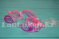 Очки для плавания с берушами, цвета в ассортименте