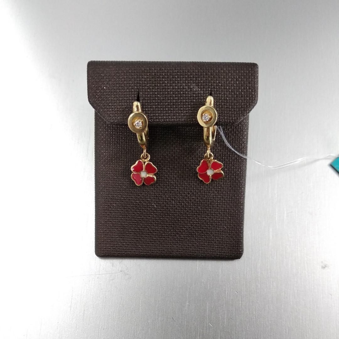 Серьги Цветочки от Roberto Bravo с бриллиантами