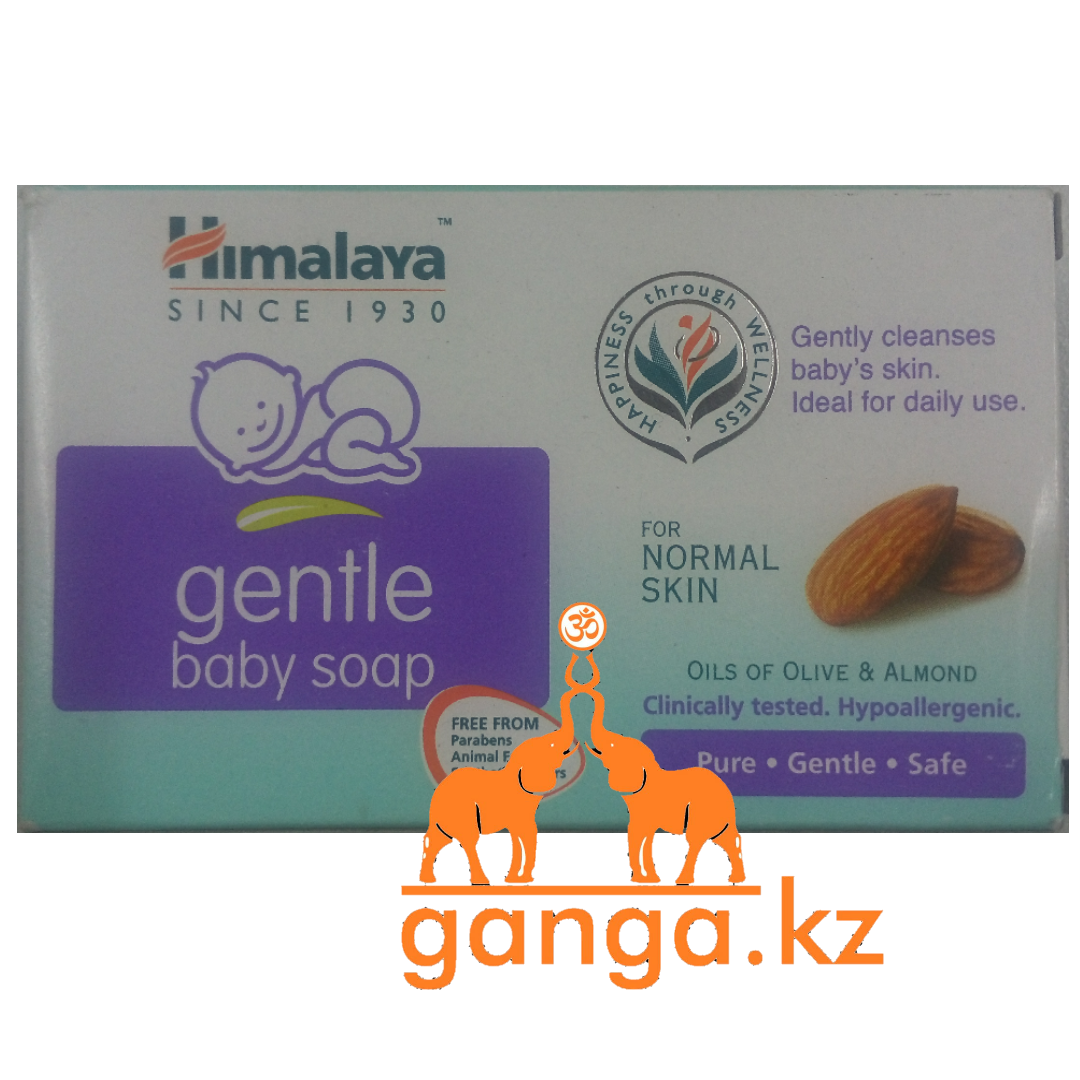 Мыло детское увлажняющее Олива и Миндаль Хималая (Gentle Baby Soap Olive and Almond HIMALAYA), 75 гр.