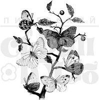 Штамп Бабочки на ветке