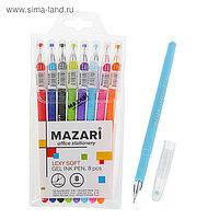 Набор гелевых ручек 8 цветов Lexy Soft, узел 0.5 мм, игольчатый пишущий узел