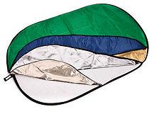 Отражатель 90 × 60 см 7 в 1 - золото, серебро, белый, чёрный, синий, зелёный, рассеиватель, фото 2