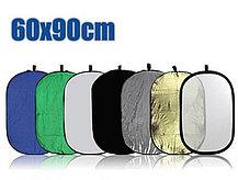 Отражатель 90 × 60 см 7 в 1 - золото, серебро, белый, чёрный, синий, зелёный, рассеиватель, фото 3