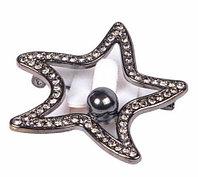 Брошь RedCoral «Морская звезда» (Черный)