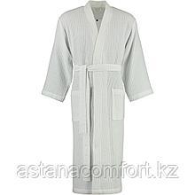 Халат-кимоно белый, мужской, вафельный. Россия