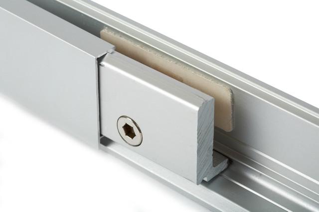 Зажимной профиль для стекла алюминиевый 40 мм.