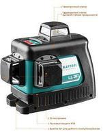 KRAFTOOL LL-3D #2 нивелир лазерный, 3х360° , 20м/70м , IP54, точн. +/-0,2 мм/м, держатель, в сумке