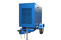 Дизельный генератор Prometey M 10 кВт. 3 фазный. Шумозащитный кожух на прицепе