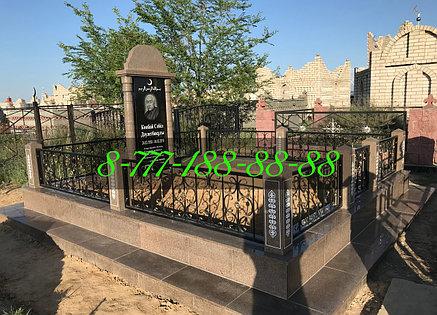 Благоустройство мусульманской могилы цоколь из гранита, фото 2