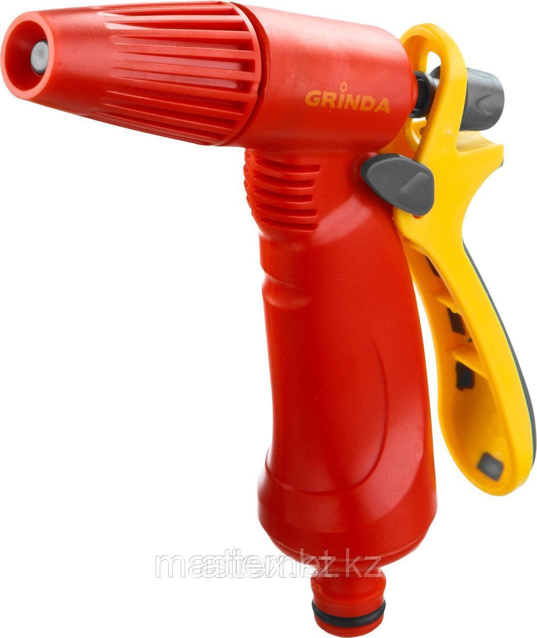 Распылитель GRINDA поливочный пластиковый, тип пистолетный, регулируемое сопло 8-427361_z02