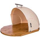 Хлебница деревянная с пластиковой крышкой, фото 2